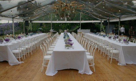 marquee-hire-Indoor-table-with-flowers